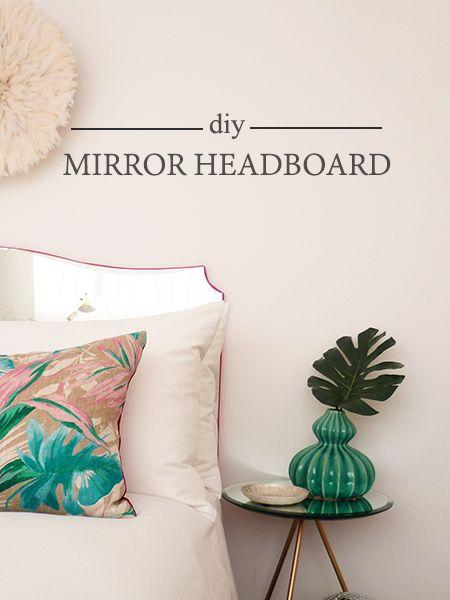DIY Mirror Headboard