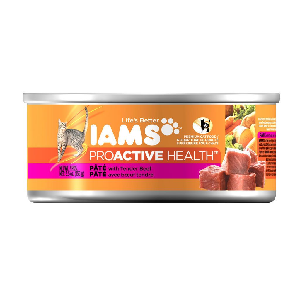 Buy IAMS Proactive Health Pate Tender Beef 156 g from
