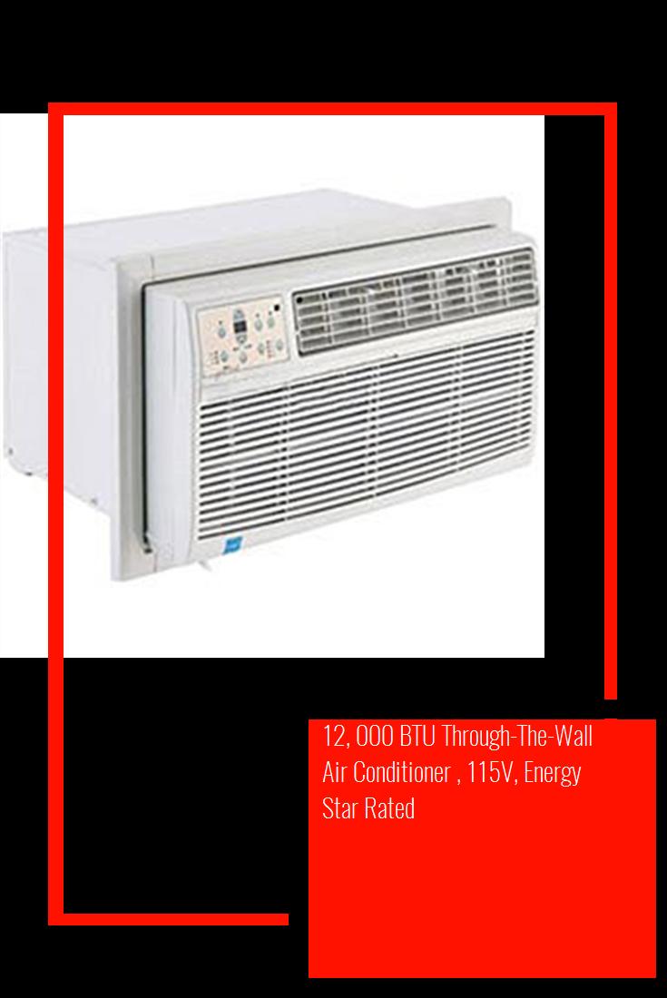 12 000 Btu Through The Wall Air Conditioner 115v Energy Star Rated Airconditioning Wall Air Conditioner Air Conditioner Energy Star