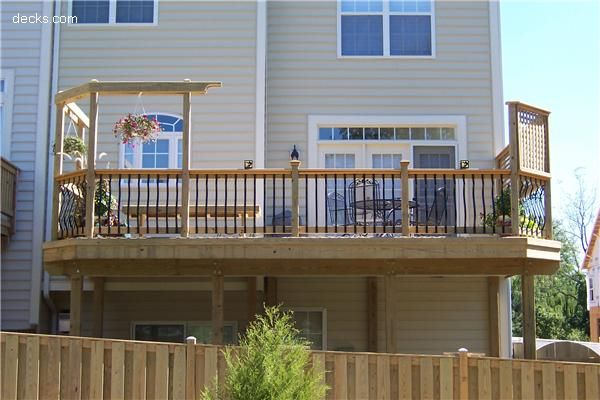 Looking for ideas for our deck and to add privacy for for Townhouse deck privacy ideas