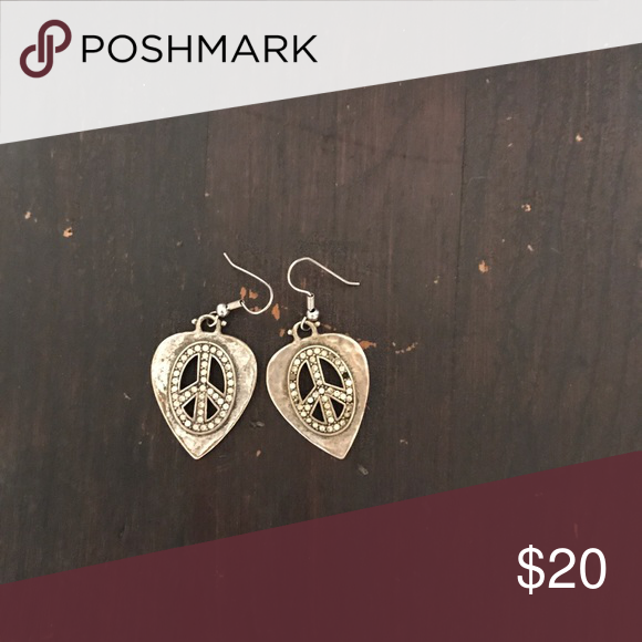 Download Lucky brand peace sign dangle earrings | Lucky brand ...