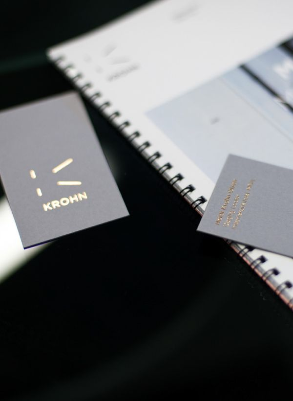 Krohn on Behance Business card design, Design, Identity