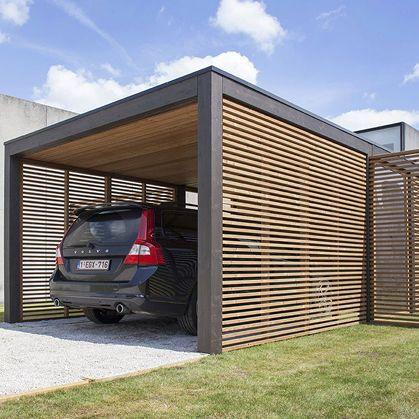 Tettoia per posto auto in legno modu collstrop garden for Due progetti di garage per auto