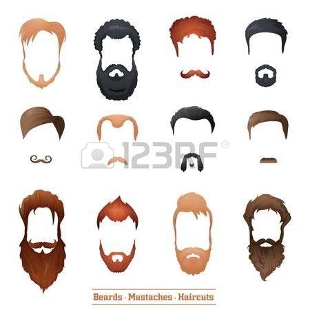 Barbas e bigodes e Penteados definir diferentes tipos de cortes de cabelo…