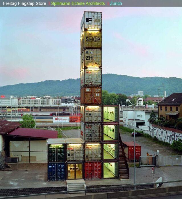freitag, zurich, container architecture