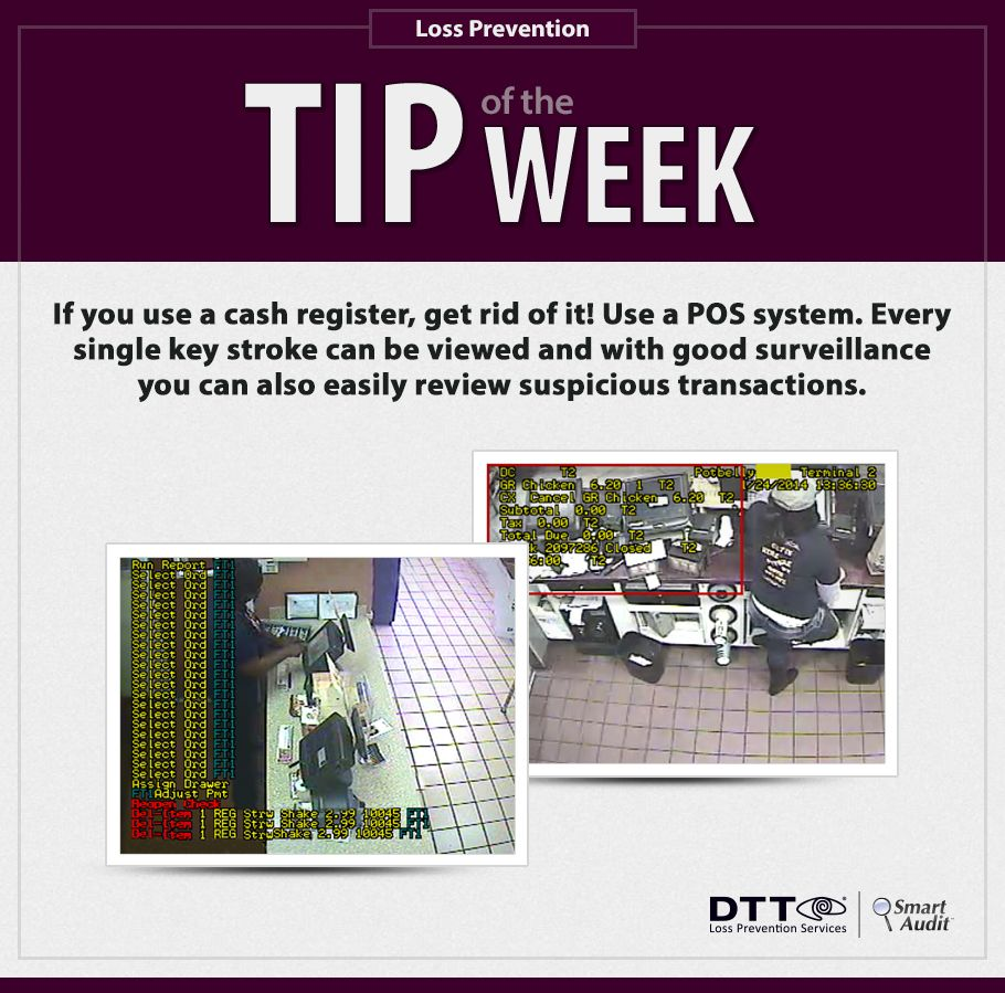 If you use a cash register, get rid of it! Use a POS