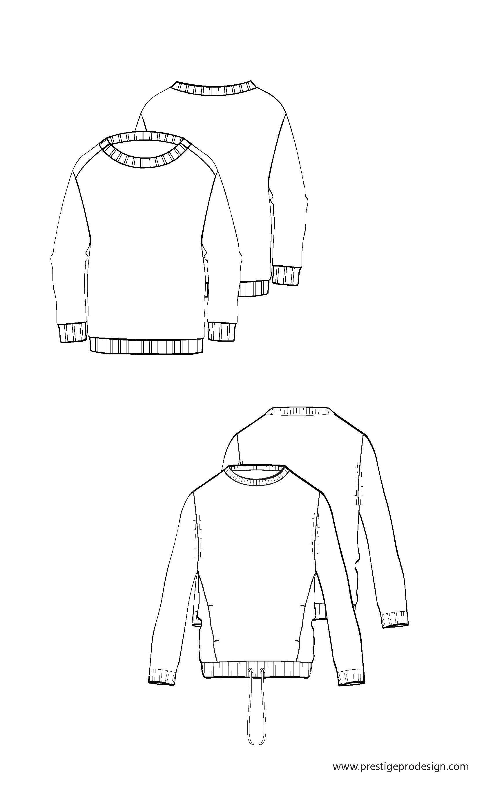 Long Sleeve/rib cuff/rib bottom | Free-mens-fashion-flat-sketches ...