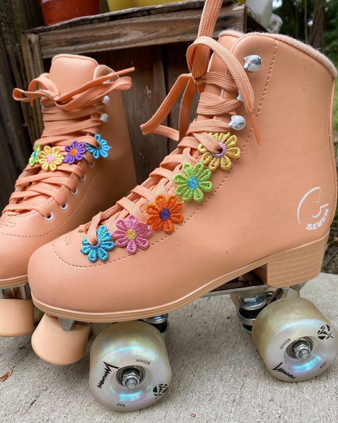 Escapingtheordinary On Instagram Rainbow Daisy Chains White Daisy Chains In 2021 Quad Roller Skates Roller Skating Roller Skates