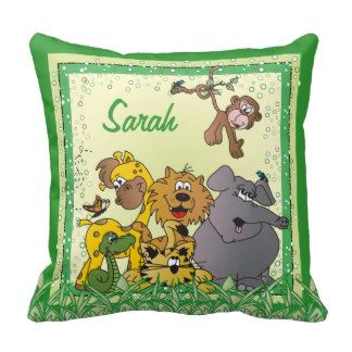 #DesignsByDonnaSiggy #Safari #Jungle #Baby #Animals #Nursery #Theme #gifts #baby #zazzlebesties #zazzle.com  #Pillow