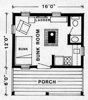 15 X14 Cabin Shed With Loft Plans Blueprint For 8 X 16