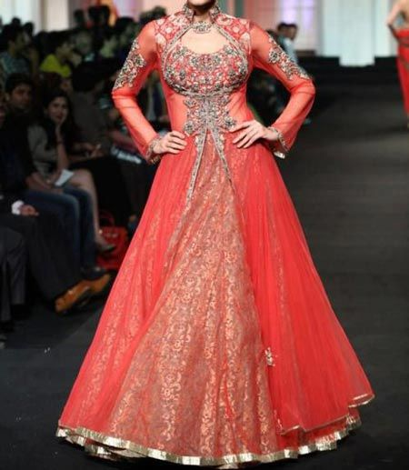 Latest Design Of Front Open Shirt Frock And Gown 2016