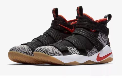 488c1976d1f5 Nike LEBRON SOLDIER XI SFG Mens Basketball Shoes 15 Black Team Orange 897646  006  Nike  BasketballShoes