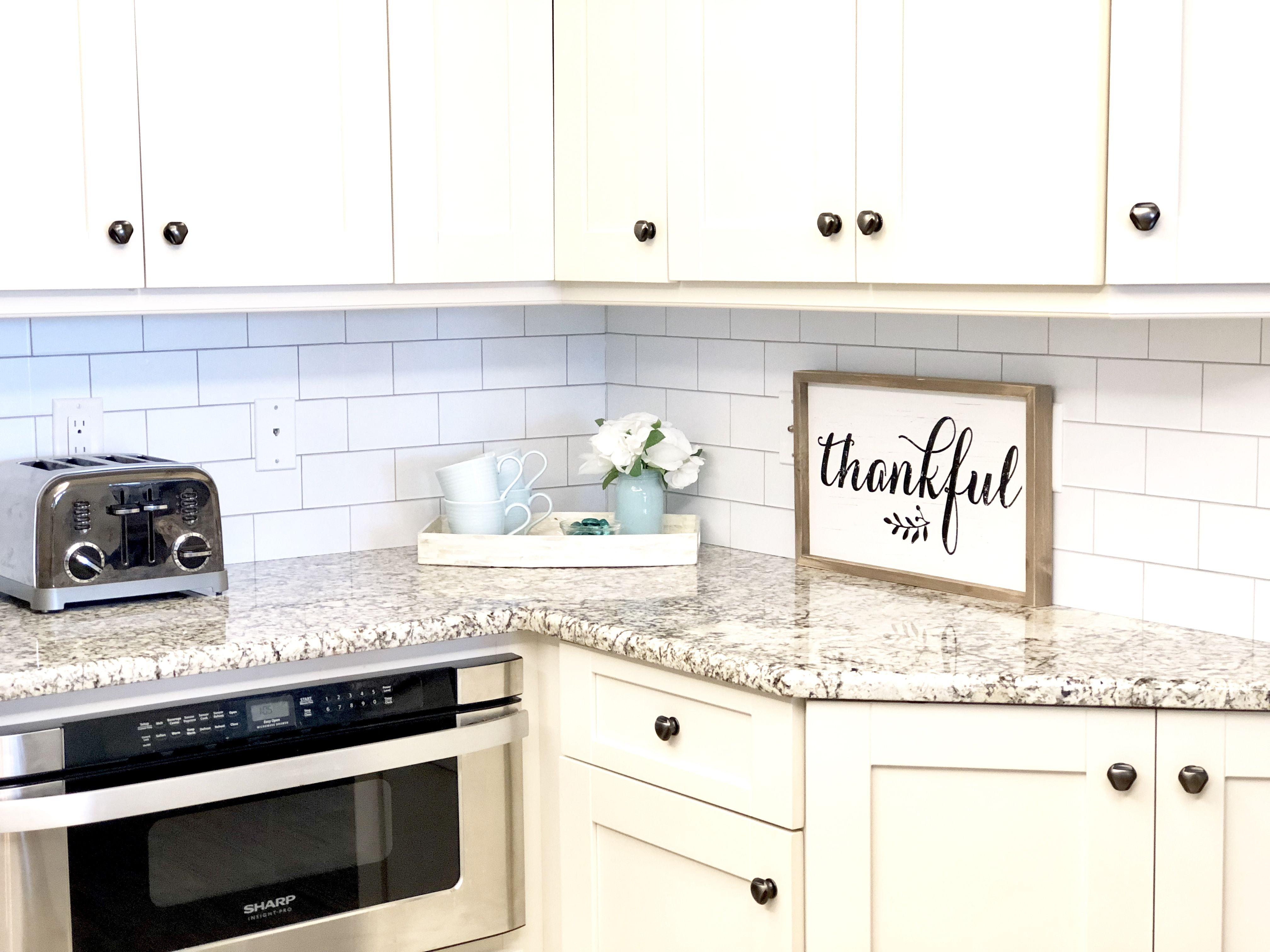 DIY Subway Tile Wallpaper Backsplash Backsplash with