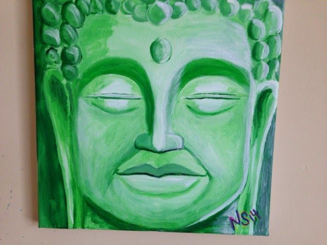 Doing things : Buddha painting. Check me out on Facebook at www.facebook.com/artbynealspear  Thanks!!!