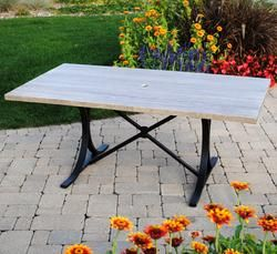 Backyard Creations Boulder Creek Table Front porchdeck