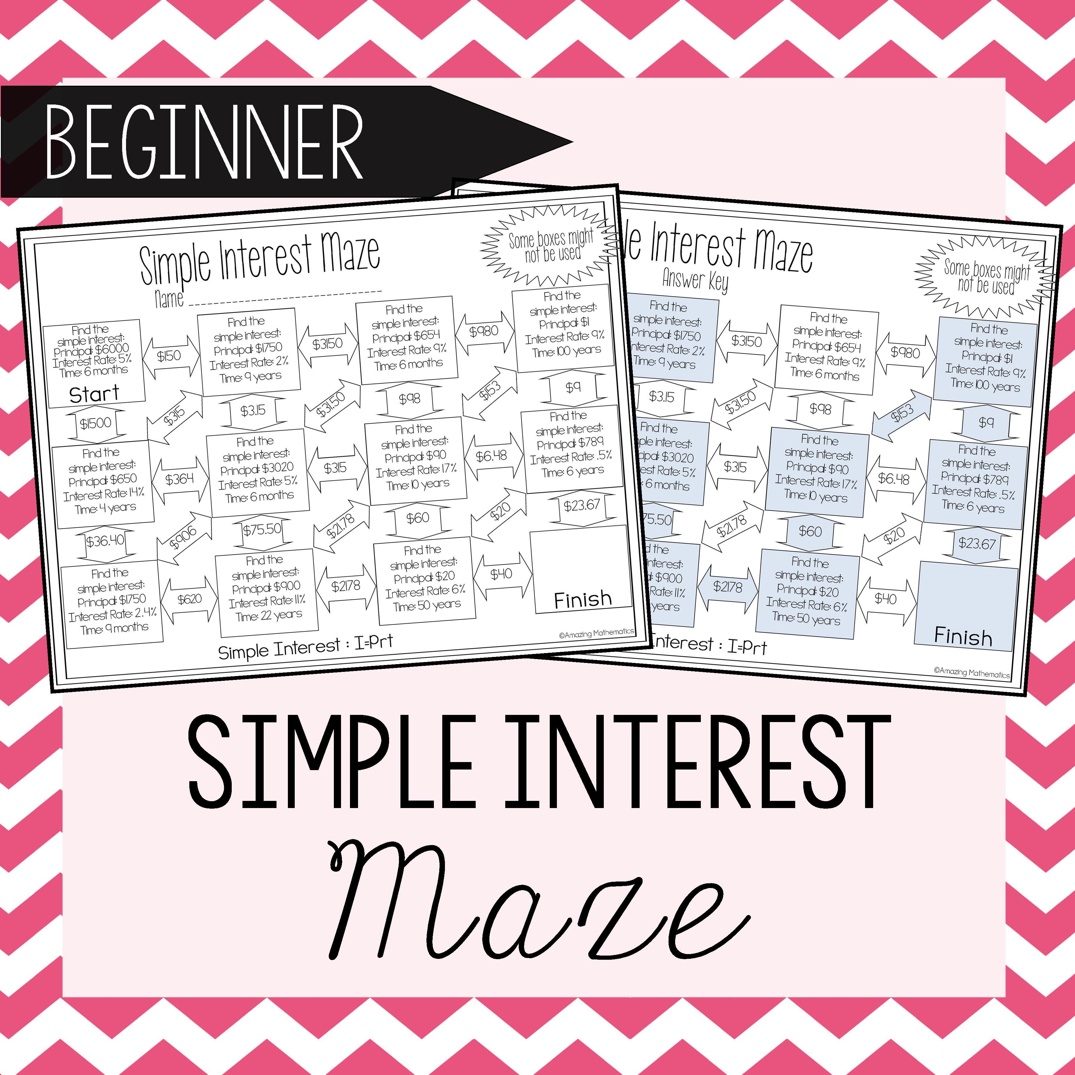 Simple Interest Maze Beginner