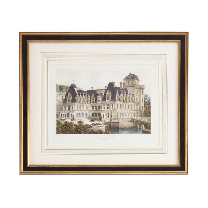 Chateau De Villandry Framed Graphic Art Print Chelsea House Lithograph Print Art