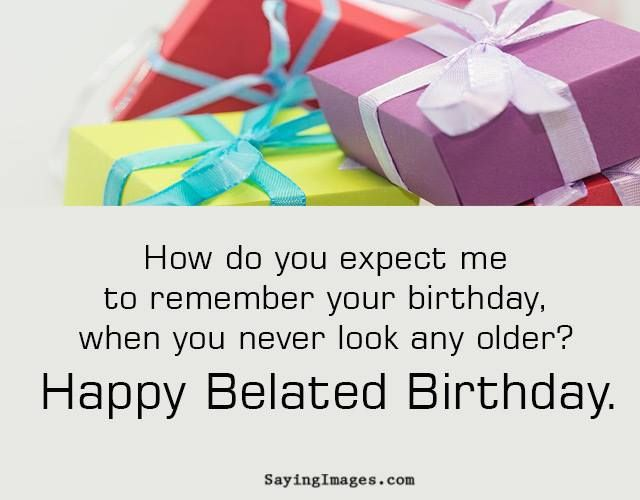 Collection Belated Birthday Wishes Messages Greeting Cards – Late Birthday Card Messages