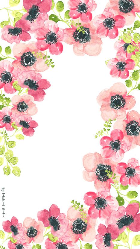 Watercolor Floral Phone Wallpaper Jpg 468 832 Pixels