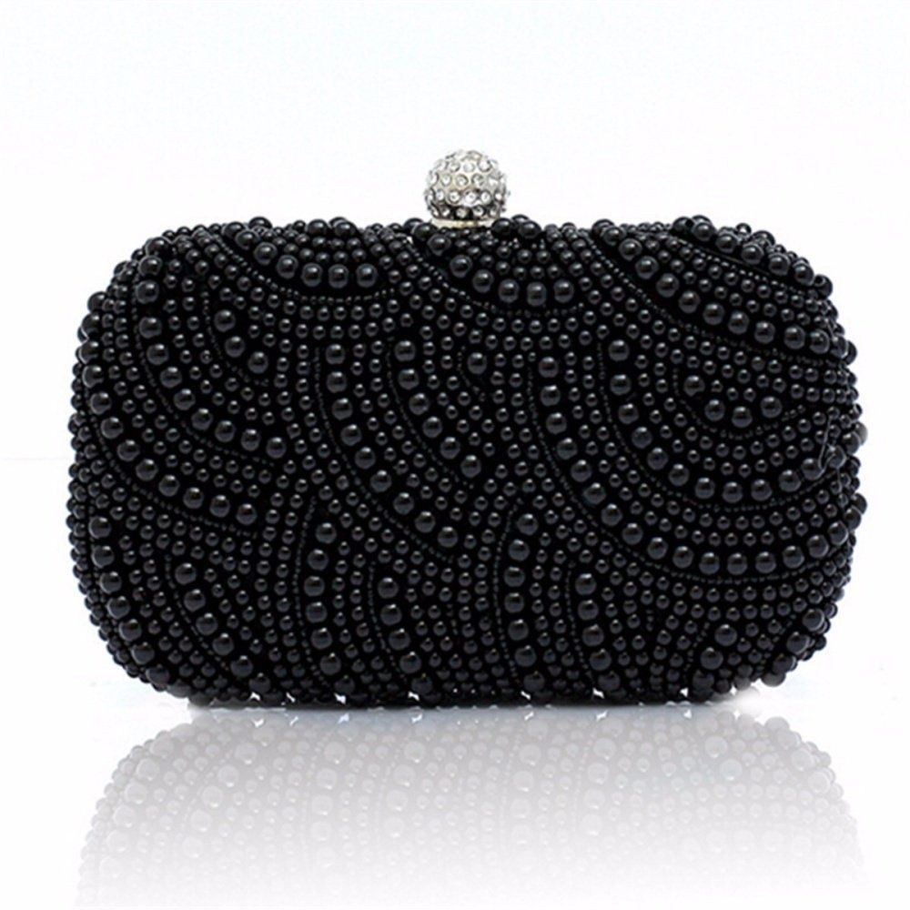 e057a18397 Women Lady Pearl Beaded Clutch Bag Party Bridal Handbag Wedding Evening  Purse - intl