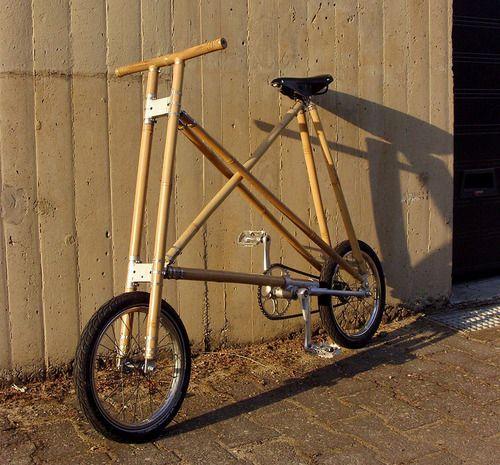 michael verhaerens sustainable + compact bamboo bicycleimage courtesy of michael verhaeren #bamboo #bicycle #belgium #belgian design #michal veraeren #geodesic #buckminster fuller