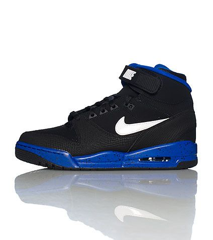 nike mens high top sneaker lace up closure with velcro