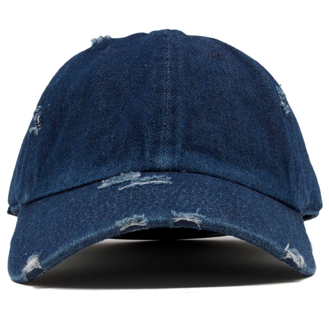 Blank Denim Distressed Dad Hat  752f030c421