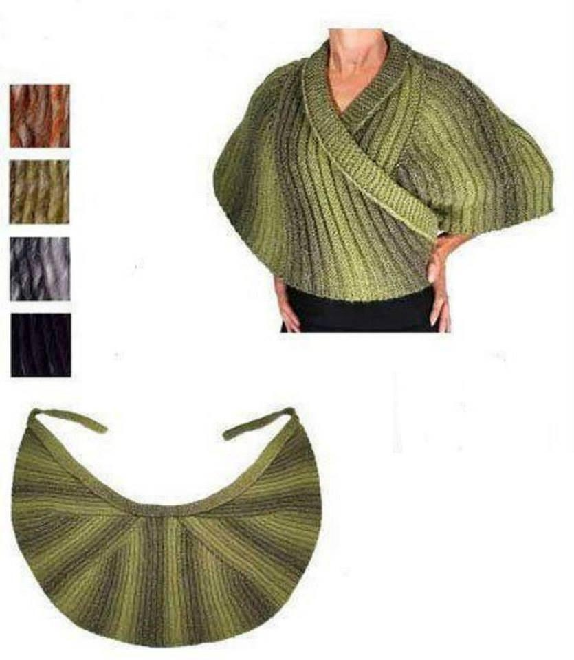 Yeşil örgü bayan şal modeli | elisi | Pinterest | Suéteres, Patrones ...