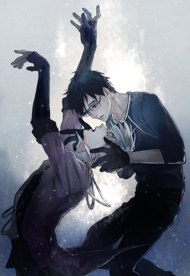 Viktor and Yuri (Yuri!!! on ice) credit : https://mobile.twitter.com/sayuuhiro