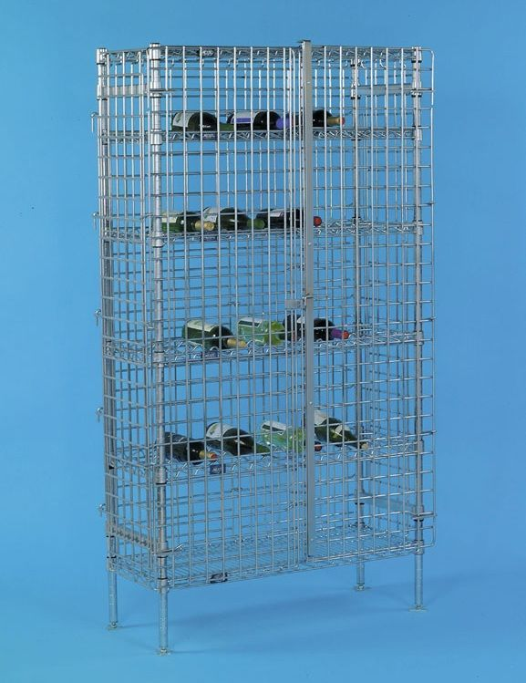 High Security Wire Wine Rack Shelving For Storage 14\