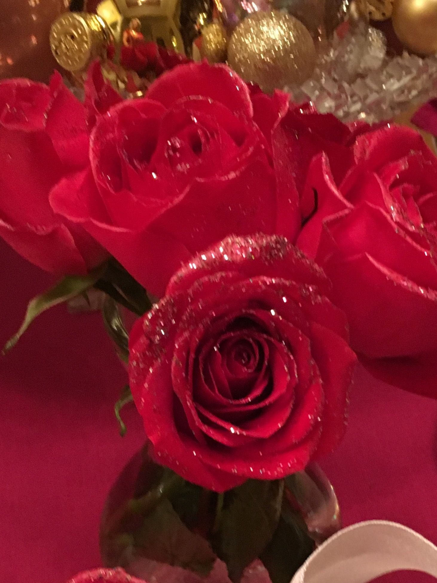 I love to sparkle flowers with spray adhesive and glitter i love to sparkle flowers with spray adhesive and izmirmasajfo