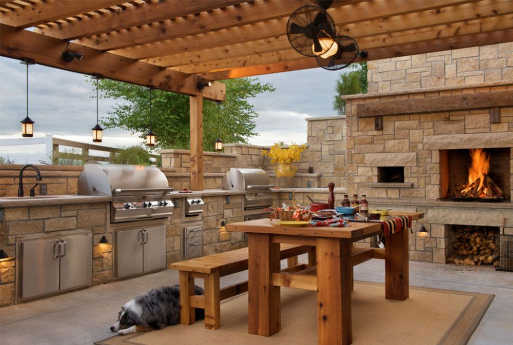summer kitchen design ideas 50 pictures outdoor kitchen design outdoor kitchen countertops on outdoor kitchen plans layout id=89657