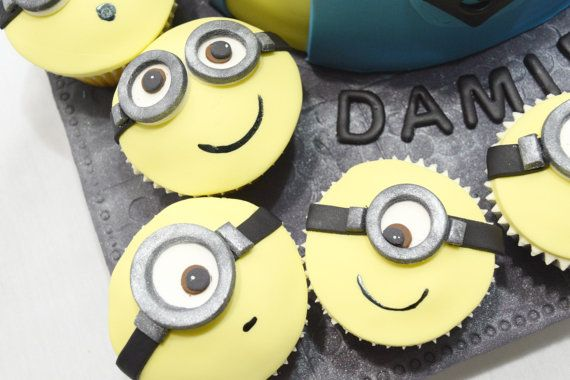 Minions cupcake toppers set of 12