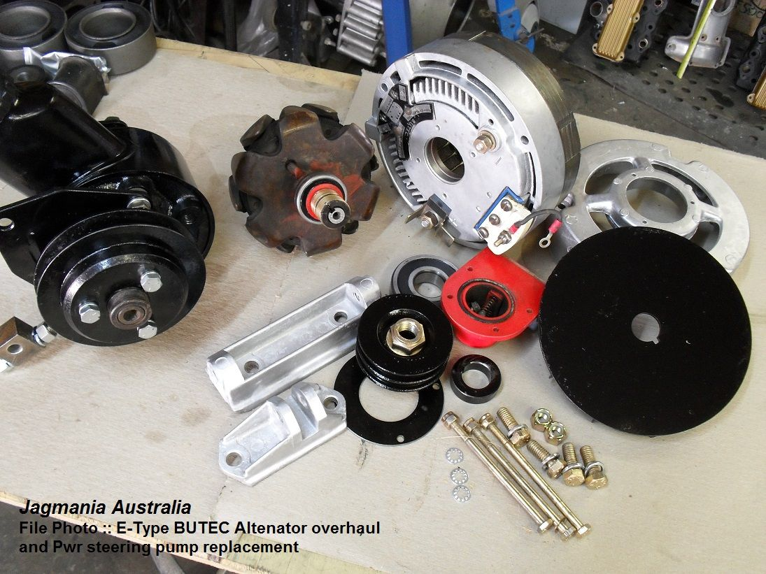 Jaguar E Type V12 Butec Alternator Rebuild By Jagmania These Are 1968 Xke Wiring Diagram Now Obsolete Makes New Diode Fields Fit Bearings Contact Block Etc