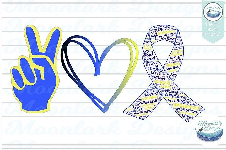 Download Peace Love Downs Syndrome Awareness sublimation ...