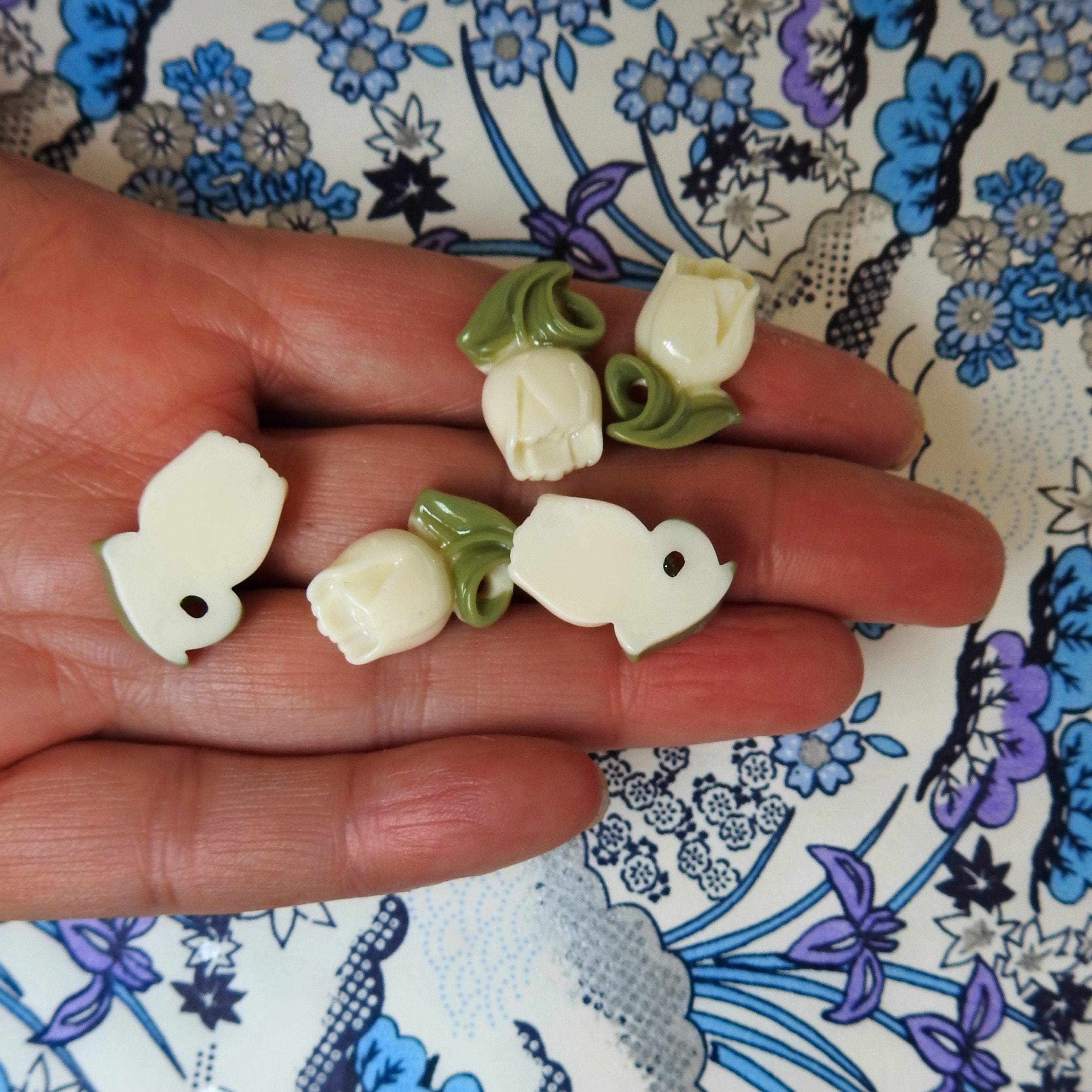 Photo of Tulip jewelry charms for bracelet and earrings
