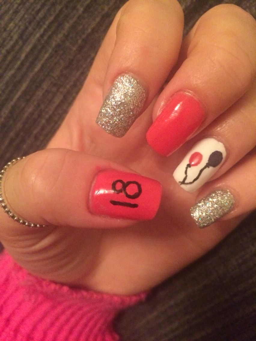 My 18th Birthday Nails Ready For Tomorrow