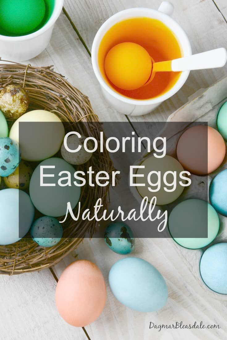 Coloring Easter eggs naturally with vegetables and spices creates beautiful eggs. You can avoid toxic food dyes -- and if you don't have an egg coloring kit, this way you can still color eggs. #easter #eggs #coloring #eastereggs #fooddyes #foodcolors #health #wellness #healthy