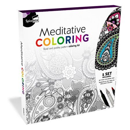 Sketch Plus Meditative Coloring Walmart Com Meditative Coloring Meditation Anti Stress