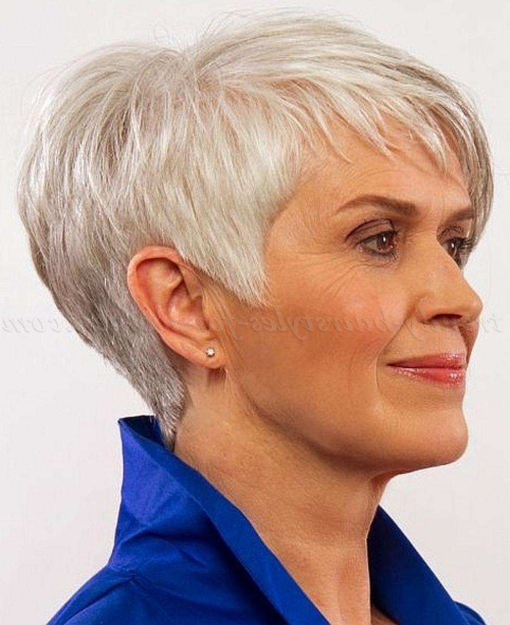 10 Easy Short Hairstyles For Women Over 60 Women Hairstyle Shorthairstyles Thick Hair Styles Short Hair Styles Short Hair With Layers