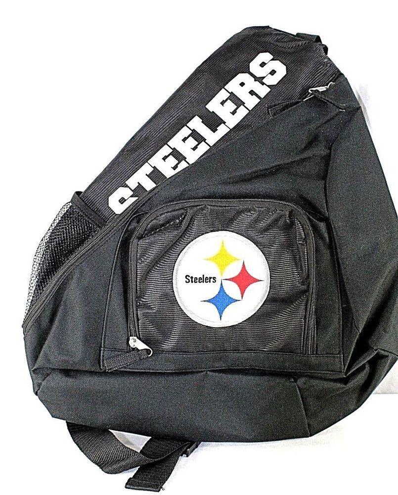Nfl Pittsburg Steelers Sling Backpack Teardrop Black Pittburgsteelers Ebayrocteam Steelers Nfl Backpacks