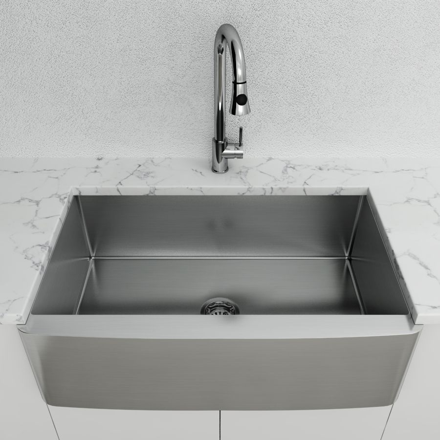 """Cantrio Stainless Steel 33"""" Apron front sink"""