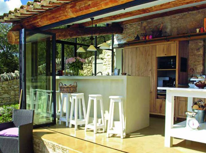 Cuisine - Elle Décoration Pinterest Pool houses, Kitchens and Patios - Cuisine D Ete Exterieure