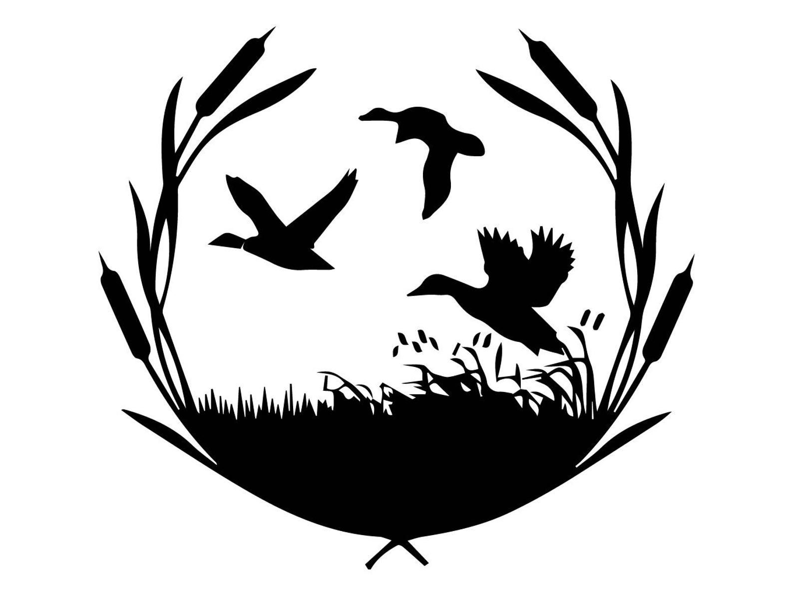 41++ Duck hunting clipart black and white info