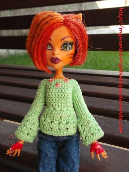 Ropa para Monster High: jersey J49 de My Monster High boutique por DaWanda.com