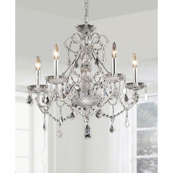 Bathroom Chandeliers Black new orleans 5-light crystal chandelierthe lighting store