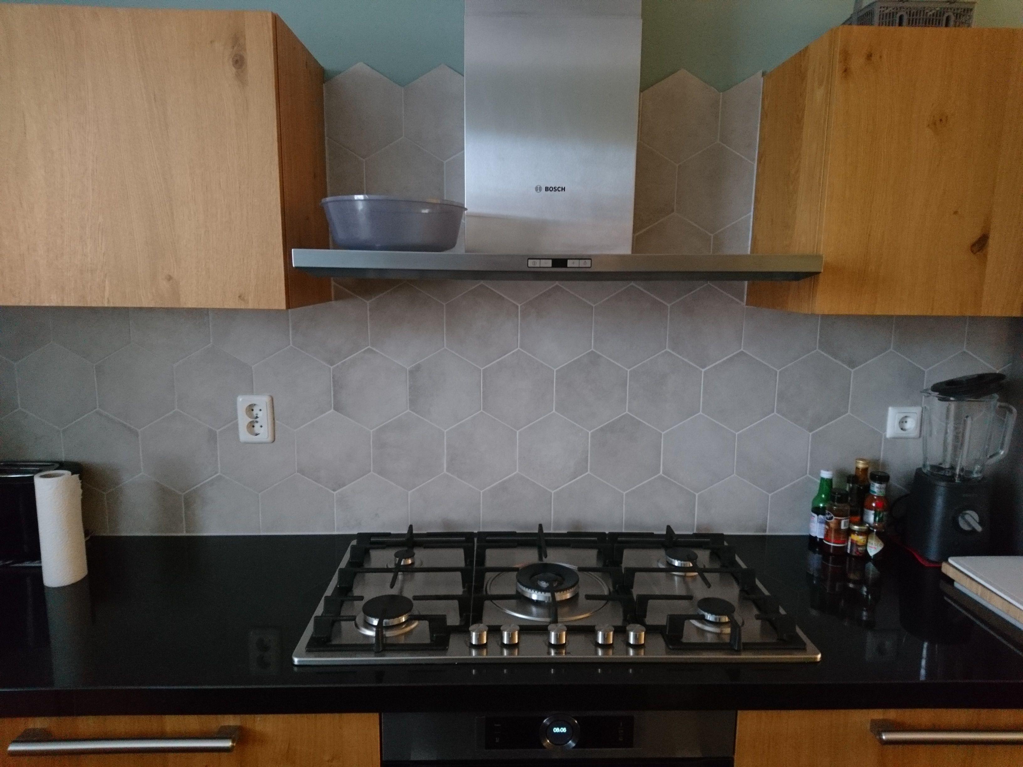 keuken tegels leiden : Inspiratie Deze Hexagon Tegel 00 Mk 85 Cotton Is Hier Gebruikt
