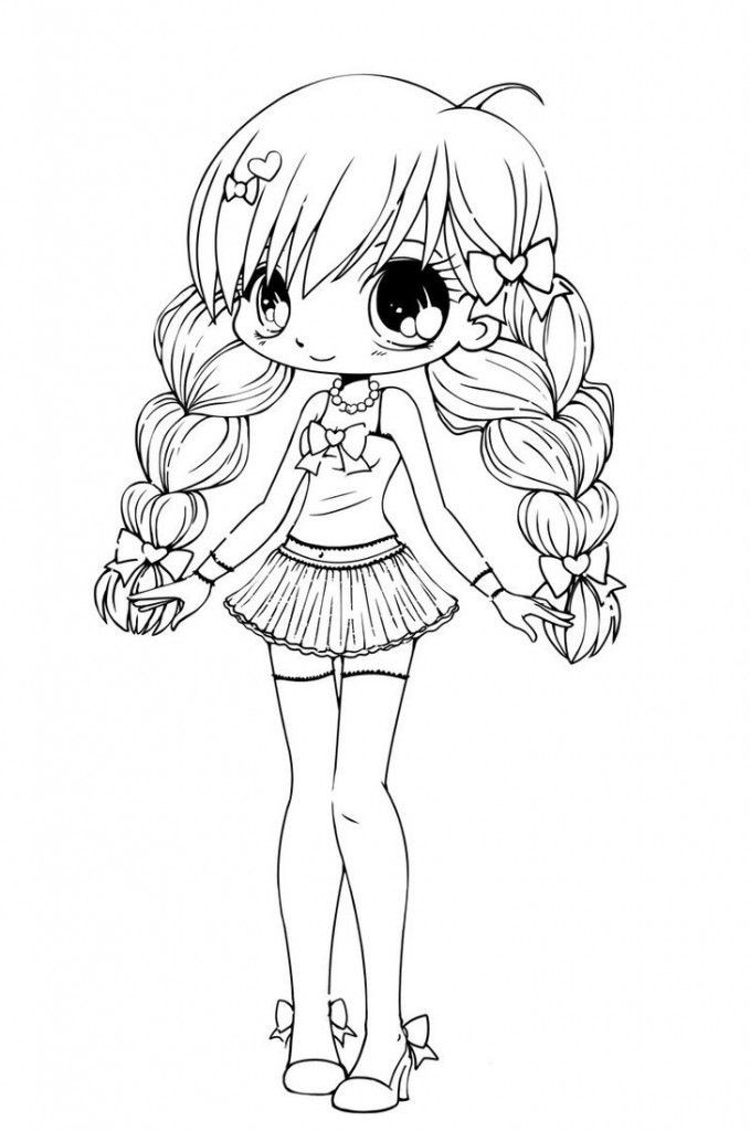 Free Printable Chibi Coloring Pages For Kids | Omalovánky ...
