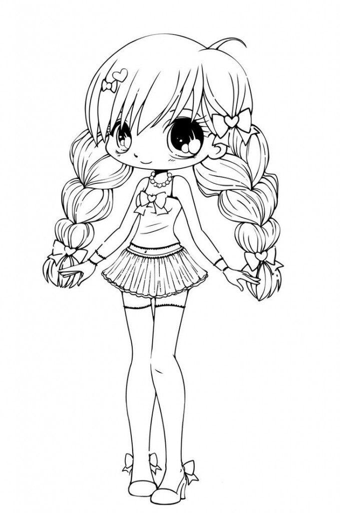 Free Printable Chibi Coloring Pages For Kids | Pinterest | Chibi ...