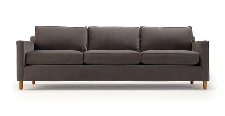 Martin Upholstered 90 Sofa With Low Pile Velvet William Gold